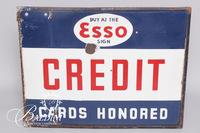 Early Esso Enameled Metal Sign