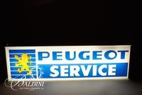 Vintage Electric Peugeot Service Sign, Lima Ohio