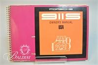 1971 Porsche 911S Owner's Manual with Electrical Diagrams, Dealer's Contact List, and Warranty Booklets