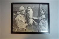 Collection of Roy Rogers, Gene Autry and Lash LaRue Framed Prints, Some Signed