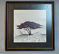 Framed Tree Silkscreen