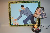 1956 Elvis Painting and Elvis Lamp