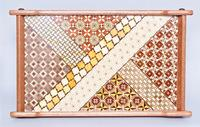 Pair Asian Export Marquetry Inlaid Trays