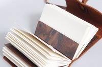 Darryl Maleike Handmade Leather Journal and Wood Ring Box