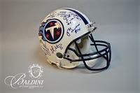Autographed Titans Helmet from 1999