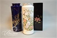 (3) Asian Theme Vases