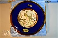 Chokin Vases and Plates with 24k Gold Trim