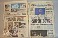 Super Bowl 2000 Memorabilia and Tennessee Titans Memorabilia