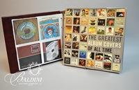 "Book ""Greatest Album Covers of All Time"" and Binder of CD Covers"