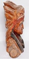 Carved Wooden Native American Bust