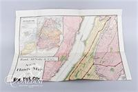 Vintage Postcards and New York City Map