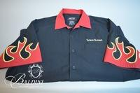 Hilton Bowling Shirt with Flames, Size XL