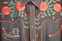 """""""Manuel"""" Custom Western Shirt with Embroidery and Snap Closures"""