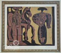 "Pablo Picasso ""Picador and Matador"" Linogravure Cercle d' Art Edition, Paris 1962"