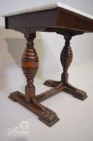 Empire Marbletop Side Table on Brass Studded Feet