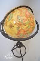 World Globe on Metal Stand
