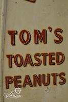 Antique Tom's Toasted Peanuts 2 Door Display Cabinet