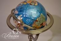 Gemstone Globe on Metal 3 Leg Stand