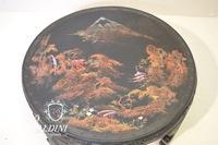 Hand Painted Exotic Wood Asian Floor Table