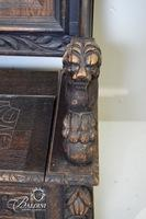 Important 1880's Deacon's Bench Heavily Carved with Lift Seat