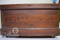 """Extra Large Blanket Cedar Chest with """"Mother"""" Stamped Inside Lid and Brass Accents"""