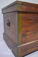 """Blanket Cedar Chest with """"Mother"""" Stamped Inside Lid and Brass Accents"""