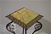 Marbletop Brass Candle Table