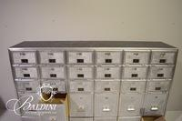 "Large Steel Federal Post Office Box with 30 Boxes Stamped ""Federal 1966"""