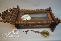 Antique German Regulator Wall Clock Inspired by Gustav Becker Circa 1880s-1890s