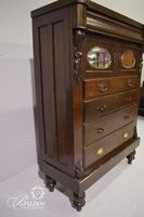 Mirrored Dresser with Carved Details