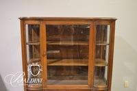 Deco Curved Glass Curio Cabinet