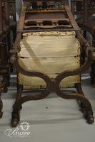 Embossed Renaissance Leather Horsehair Side Chairs