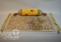 Silk Rug and Pillow