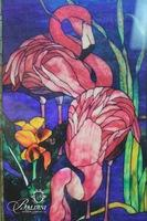 Painted Glass Signed Sharon Earl
