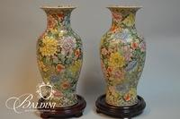Pair Asian Vases on Stands