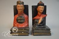 Chaulk Bookends Featuring Asian Busts