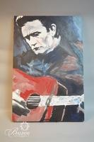"Original Asher Wood ""Johnny Cash"" Acrylic on Canvas"