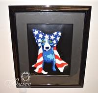 "George Rodrigue (American/Louisiana 1944-2013) ""In My Security Blanket"" 1996 Silkscreen, #25 in a Limited Edition of only 150, Artist Signed"