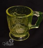 Vaseline Glass Pair