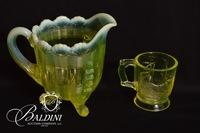 Vaseline Glass Pair