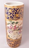 Hand Painted Porcelain Asian Umbrella Stand/Floor Vase