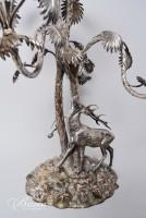 Important Large Silverplate Stag Centerpiece 2' Tall Statue