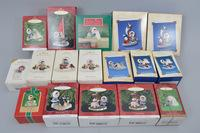 1980's and 90's Rare Frosty Friends Hallmark Ornaments in Box, Approx. 36