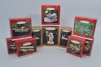 "Rare 1991 ""Starship Enterprise"" and Other Collectible Star Wars/Star Trek Hallmark Ornaments in Box, Approx. 25"