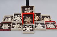 1970's Gorham Sterling Silver Snowflake Ornaments, Approx. 28 pieces