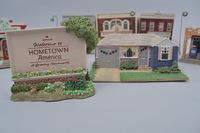 "Hallmark's ""Hometown America"" Buildings with COA's, Approx. 7"
