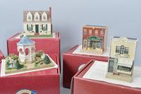 "1980's and 90's Hallmark ""Home Town America"" Buildings in Box with C.O.A.'s, Approx. 6"