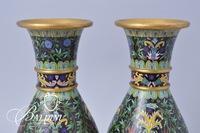 Pair Cloisonne Vases