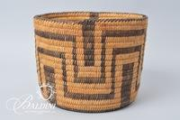 Papago American Southwest Coiled Basketry Bowl 1930 - 1950