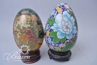 (2) Eggs, One is Cloisonne and One is Ceramic